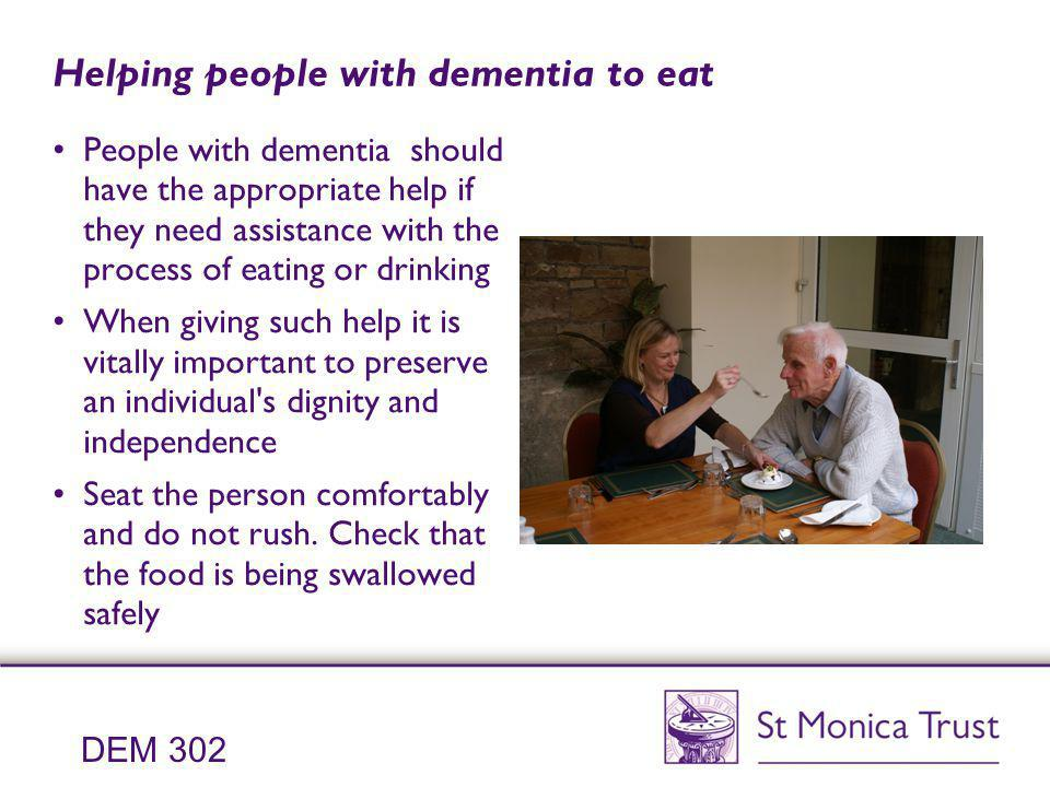 Helping people with dementia to eat