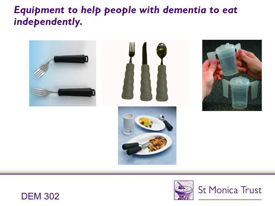 Equipment to help people with dementia to eat independently.