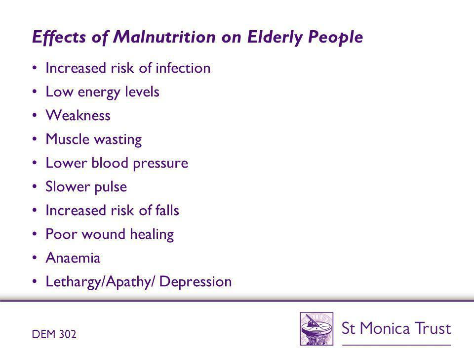 Effects of Malnutrition on Elderly People
