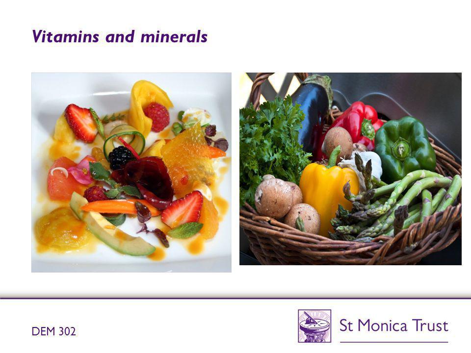 Vitamins and minerals DEM 302