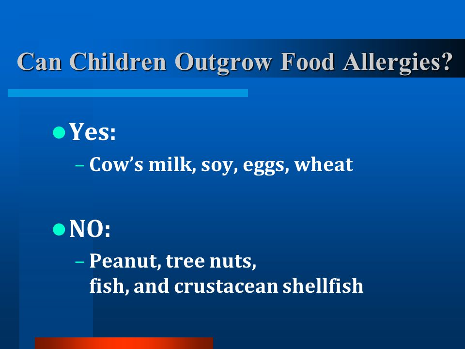 Can Children Outgrow Food Allergies