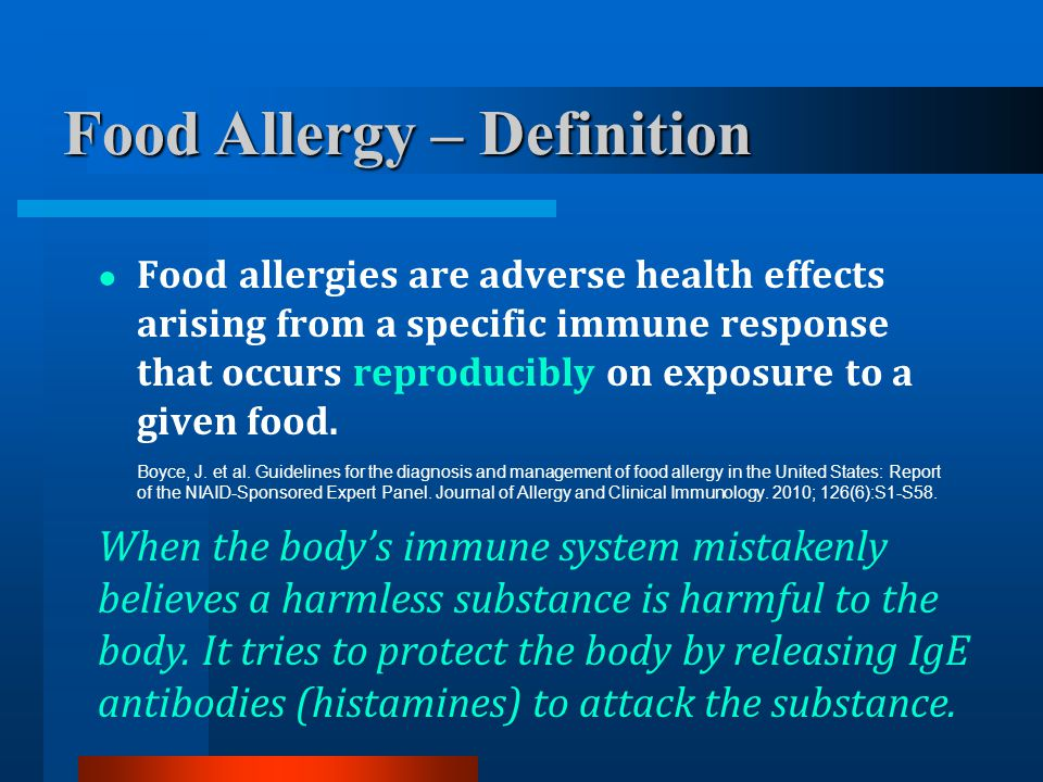 Food Allergy – Definition