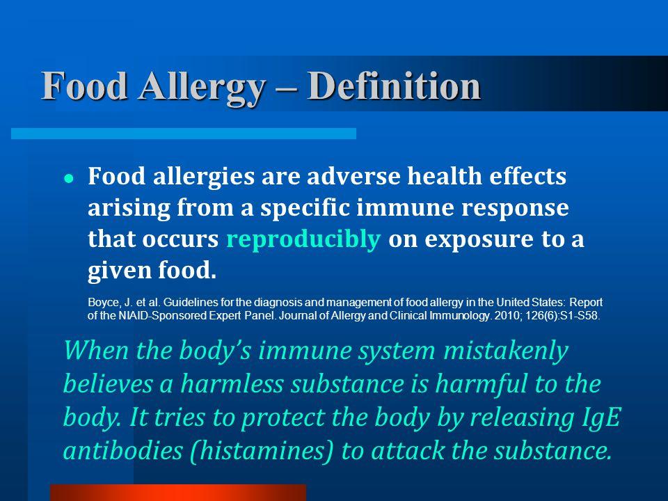 Food Allergy – Definition