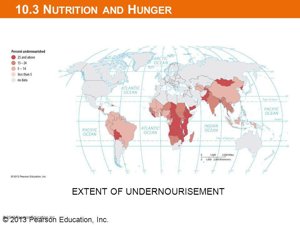 10.3 Nutrition and Hunger EXTENT OF UNDERNOURISEMENT