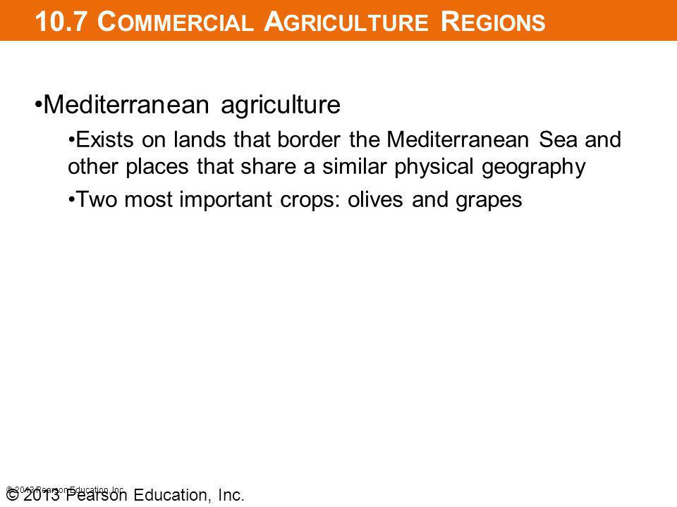 10.7 Commercial Agriculture Regions