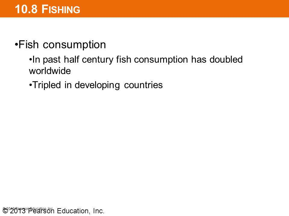 10.8 Fishing Fish consumption