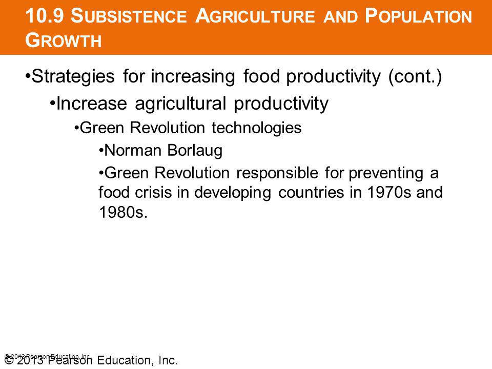 10.9 Subsistence Agriculture and Population Growth