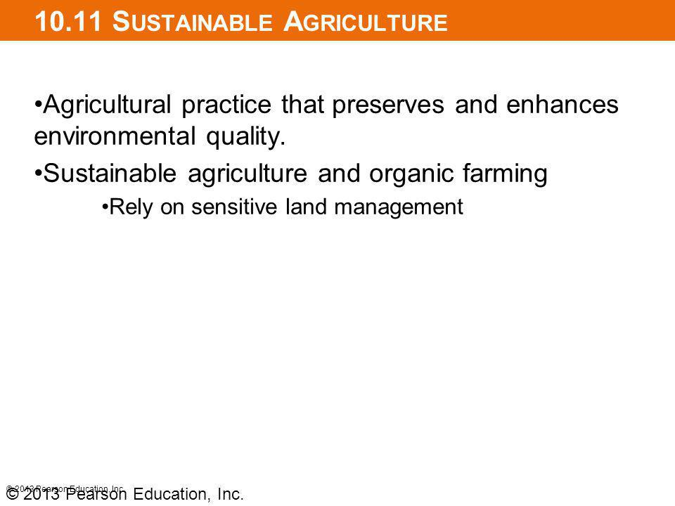 10.11 Sustainable Agriculture