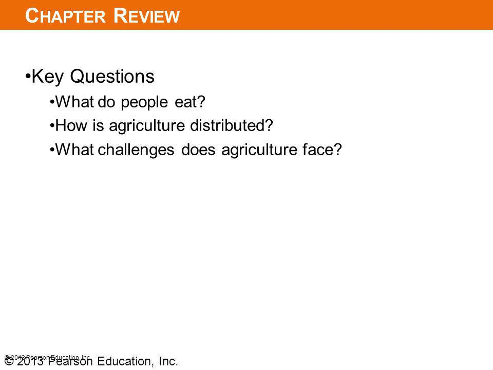 Chapter Review Key Questions What do people eat