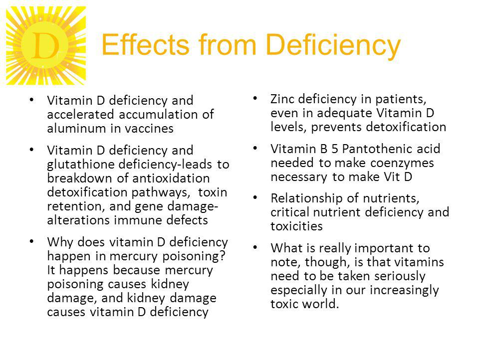 Effects from Deficiency