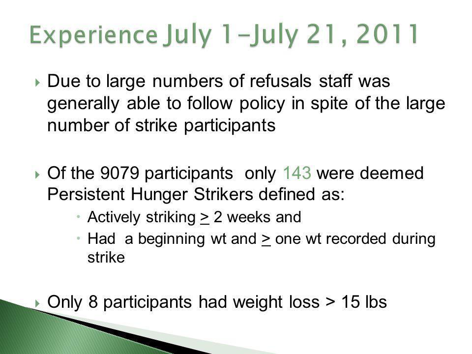 Experience July 1-July 21, 2011