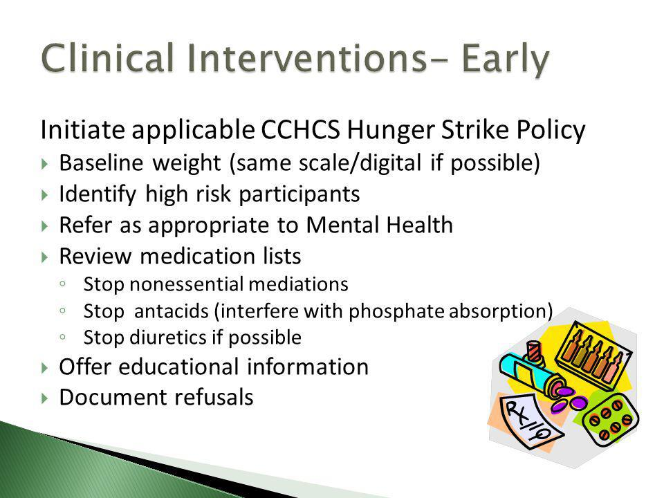Clinical Interventions- Early