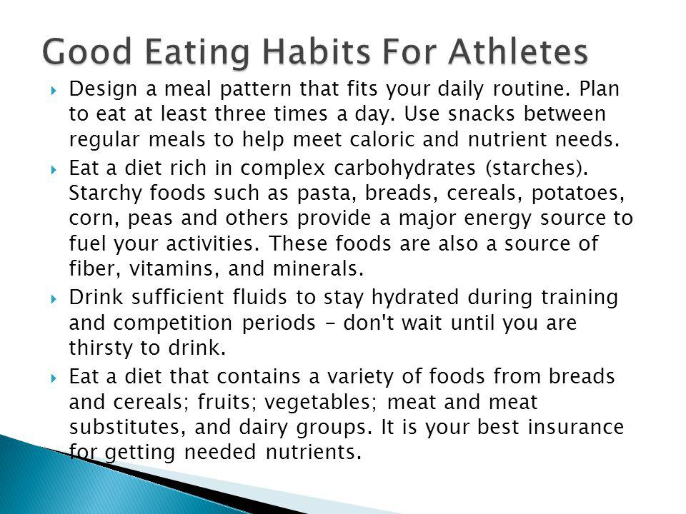 Good Eating Habits For Athletes