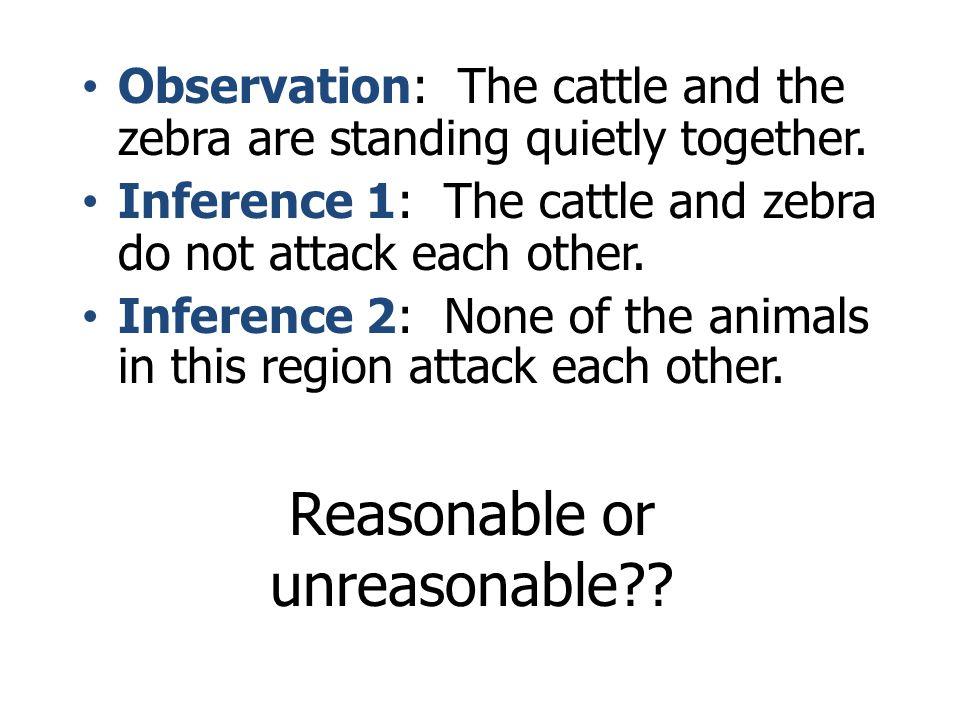 Reasonable or unreasonable