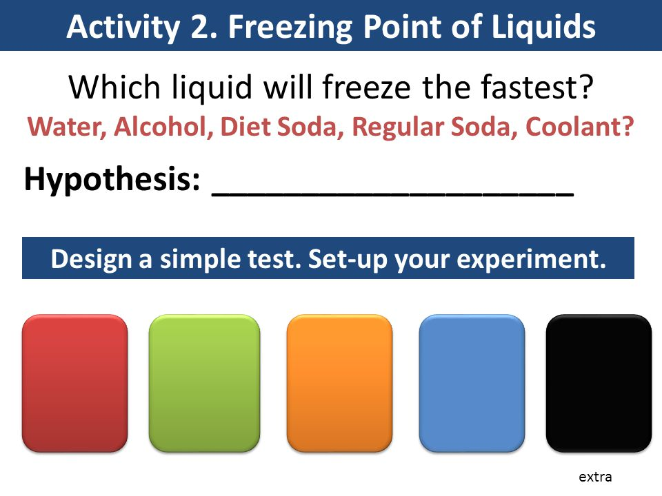 Activity 2. Freezing Point of Liquids