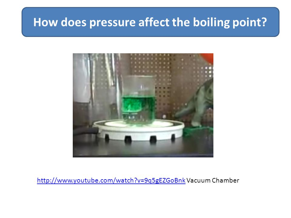 How does pressure affect the boiling point