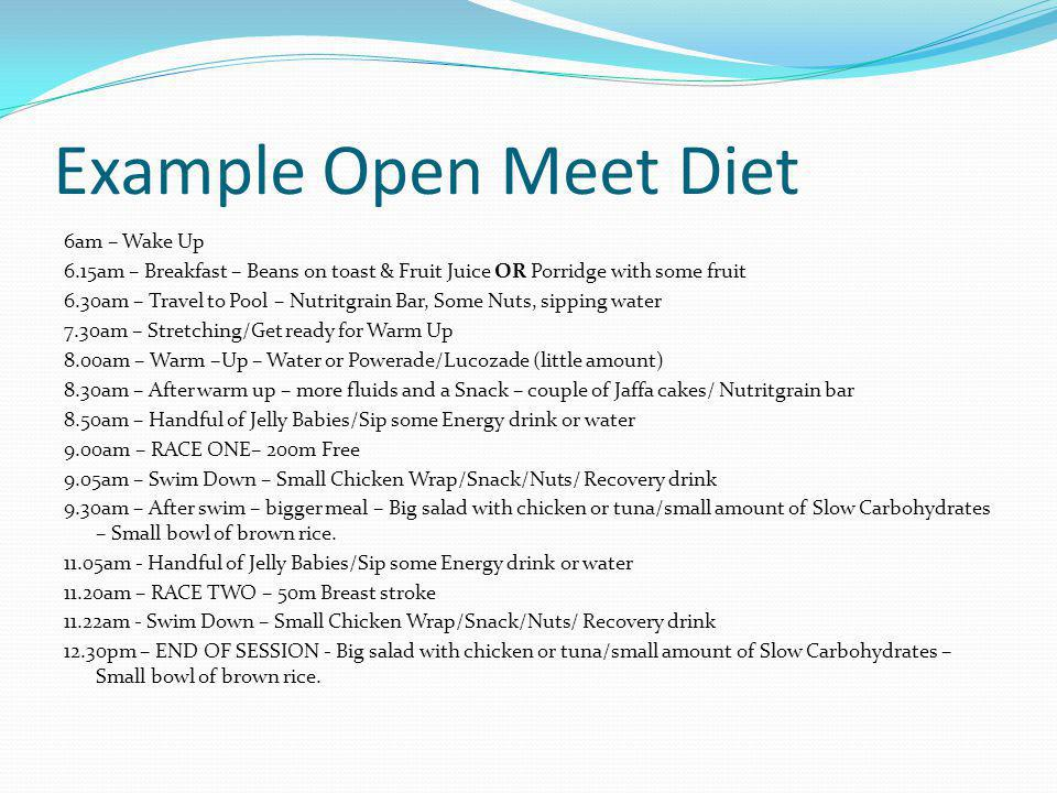 Example Open Meet Diet