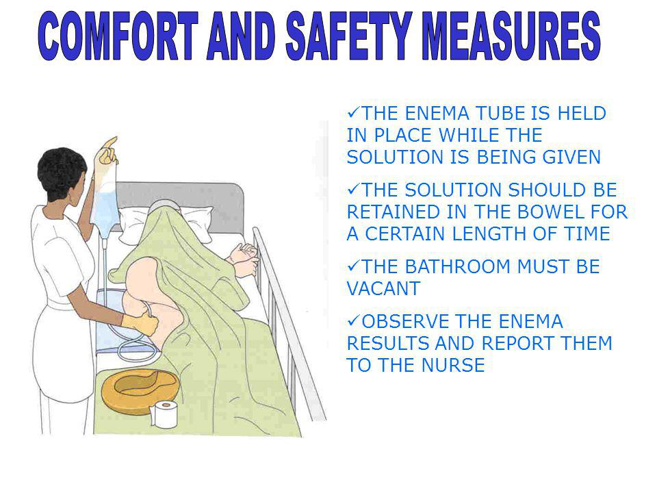COMFORT AND SAFETY MEASURES