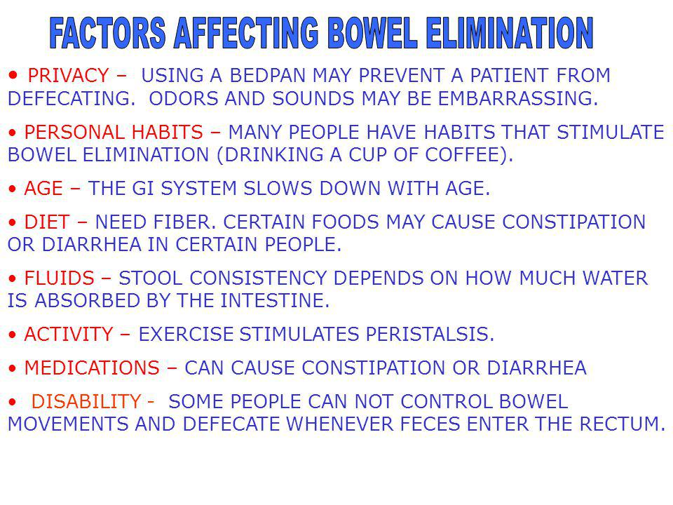 Assisting With Bowel Elimination Mouth Esophagus Liver