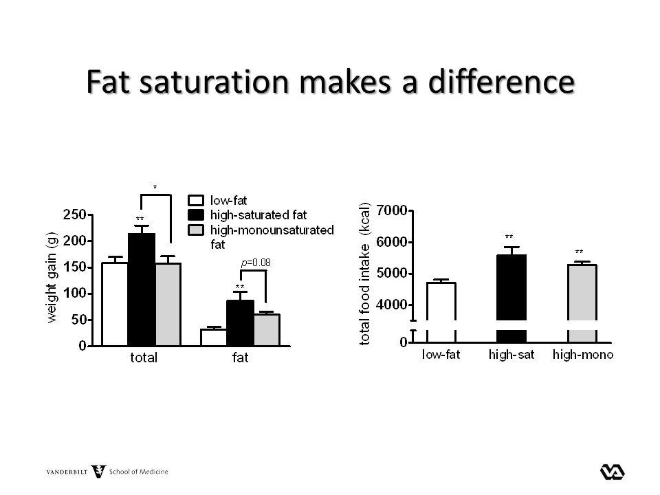 Fat saturation makes a difference