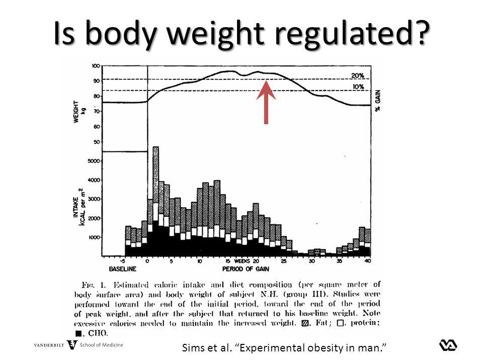 Is body weight regulated