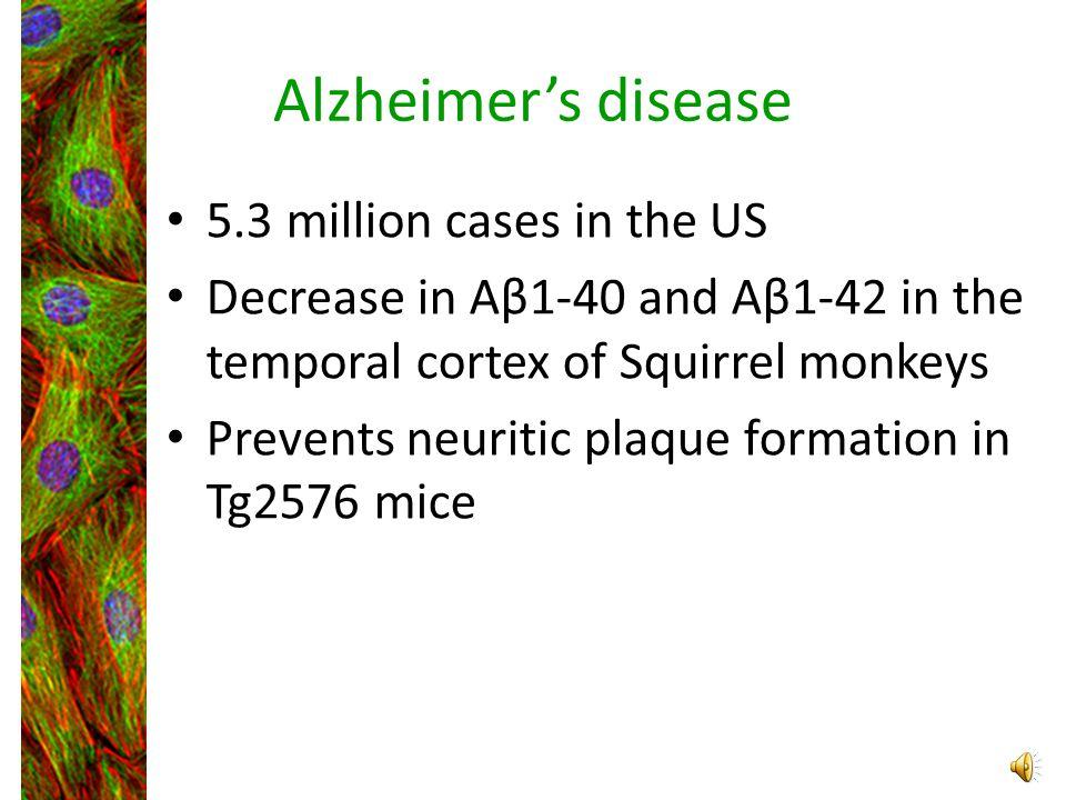 Alzheimer's disease 5.3 million cases in the US