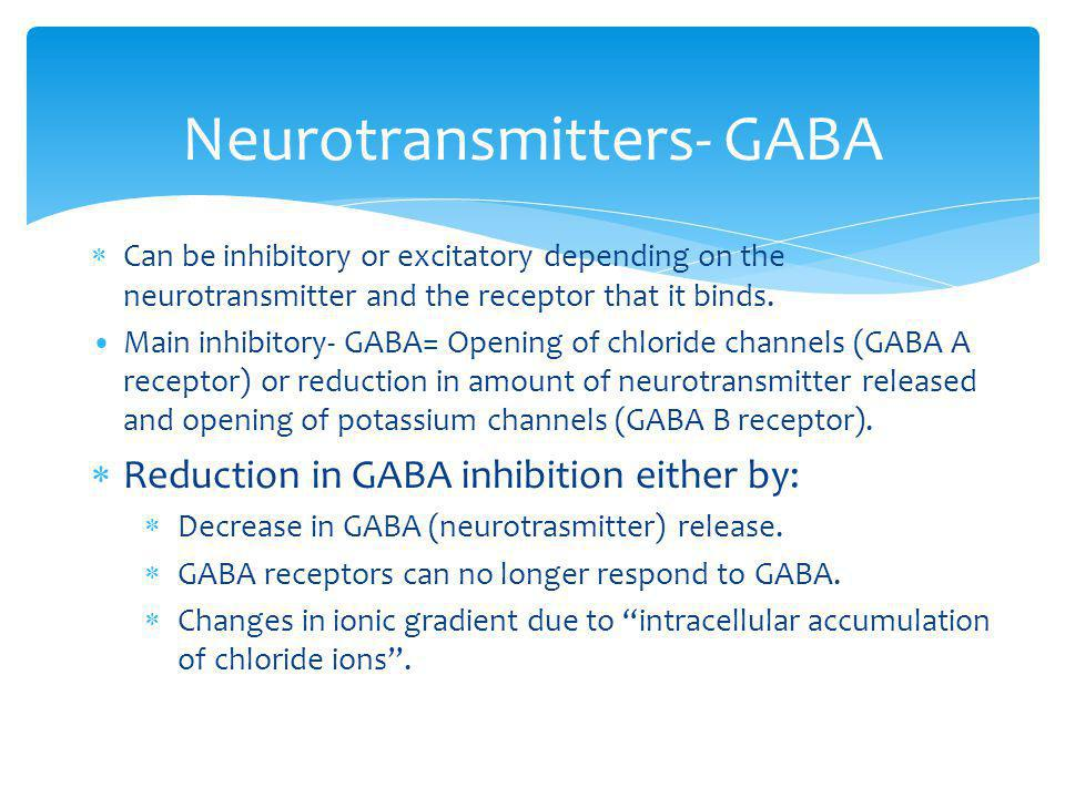 Neurotransmitters- GABA