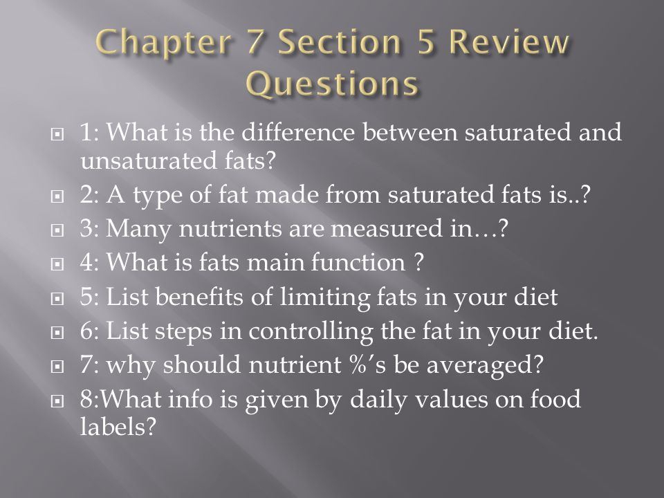 Chapter 7 Section 5 Review Questions