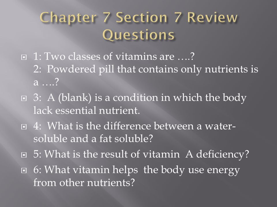 Chapter 7 Section 7 Review Questions