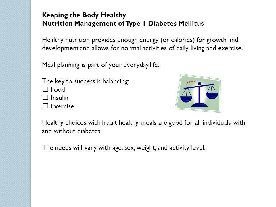 Keeping the Body Healthy