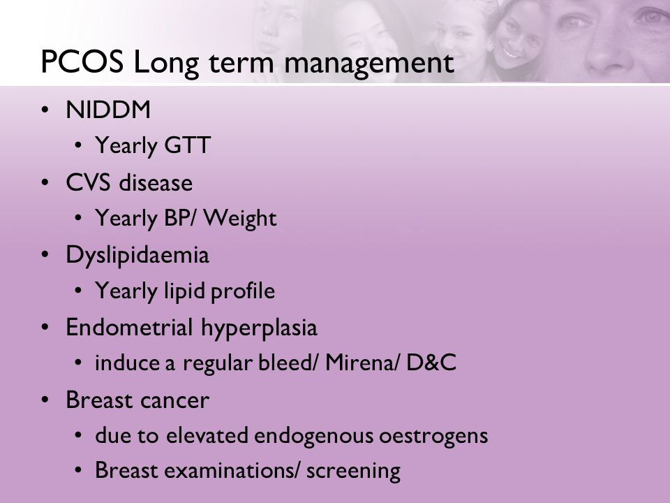 PCOS Long term management