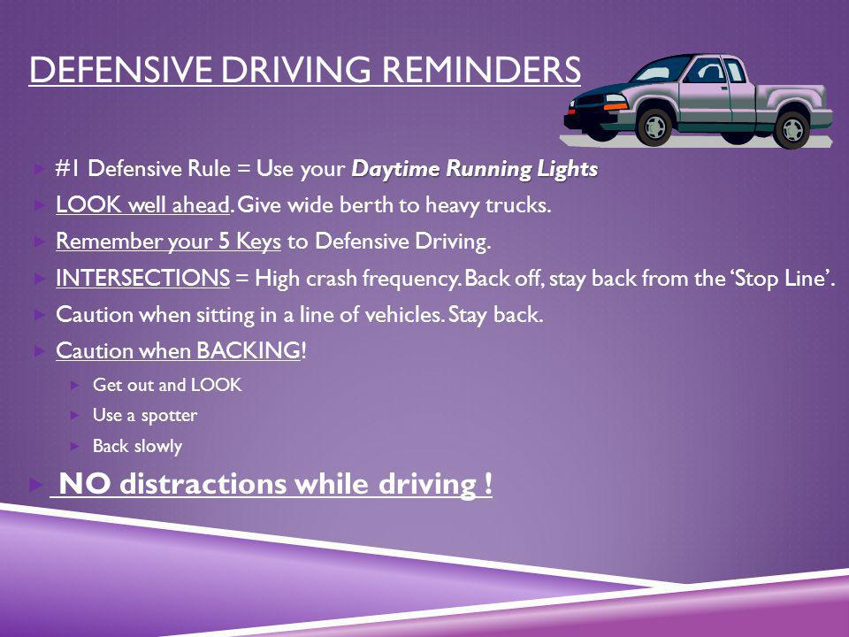 Defensive Driving Reminders