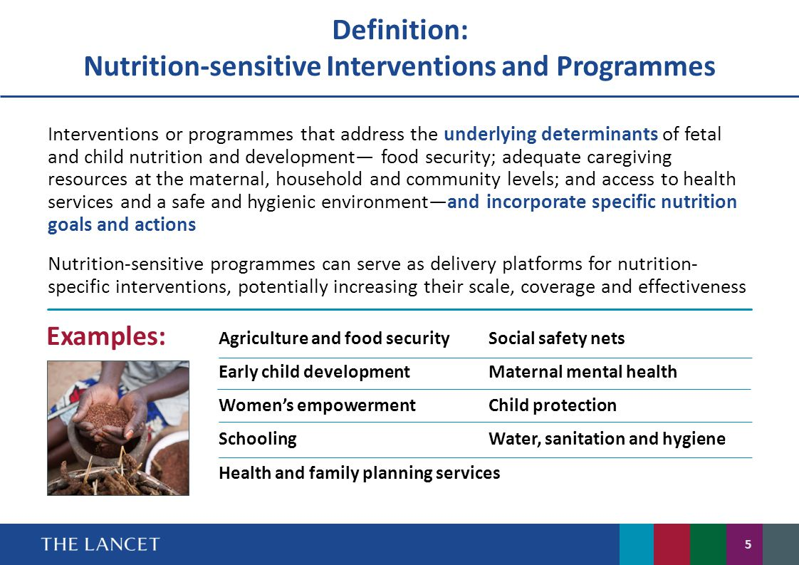 Definition: Nutrition-sensitive Interventions and Programmes