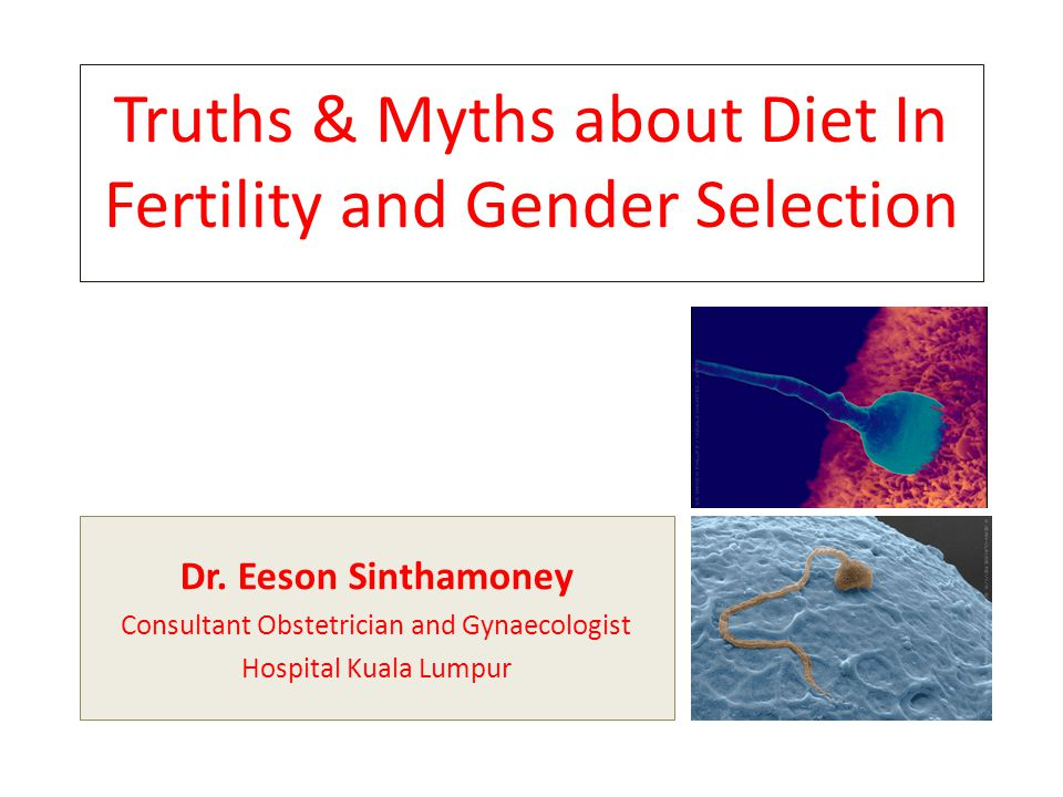 Truths & Myths about Diet In Fertility and Gender Selection