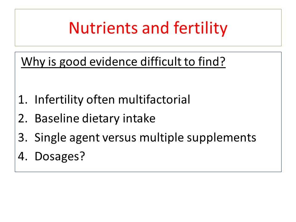 Nutrients and fertility