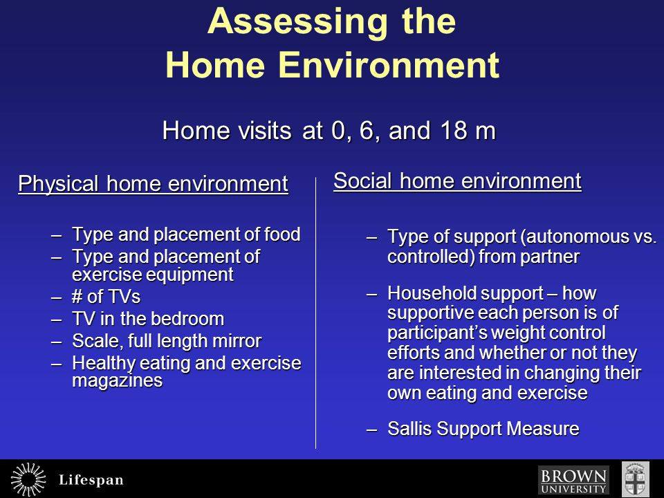 Assessing the Home Environment