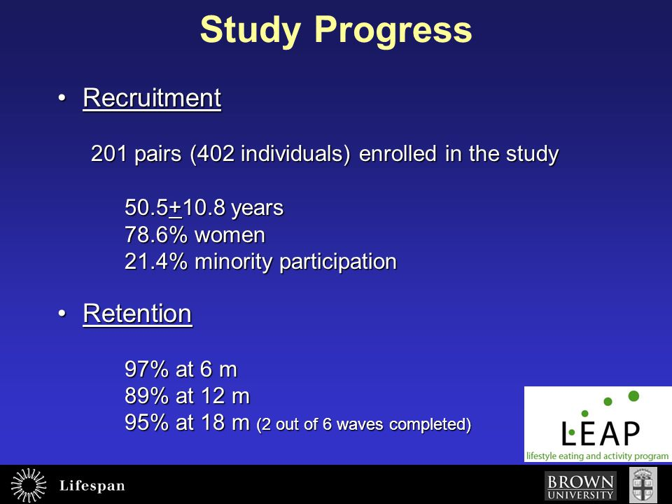 Study Progress Recruitment Retention