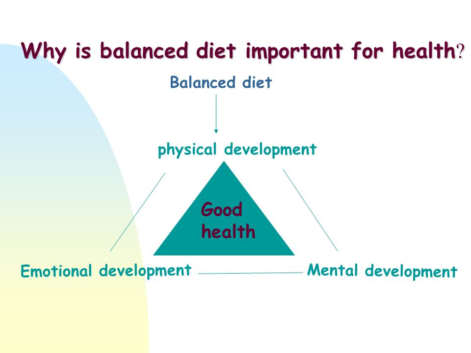 Why is balanced diet important for health