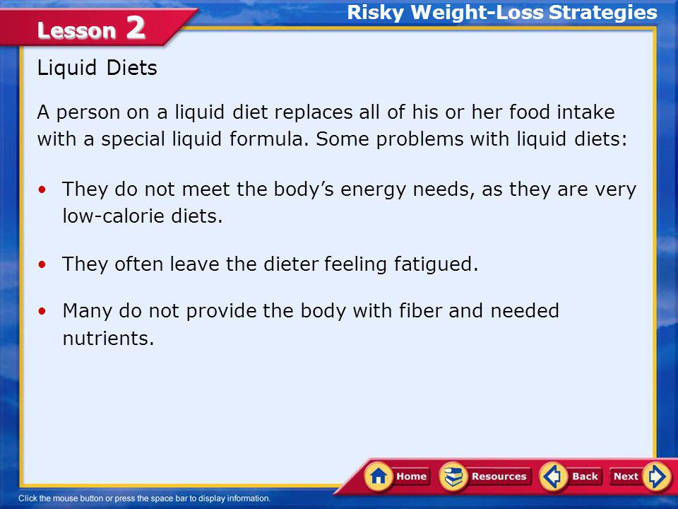 Risky Weight-Loss Strategies