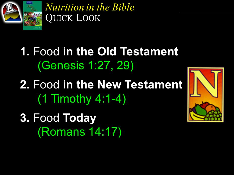 1. Food in the Old Testament (Genesis 1:27, 29)