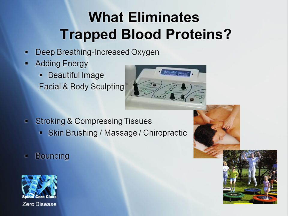What Eliminates Trapped Blood Proteins