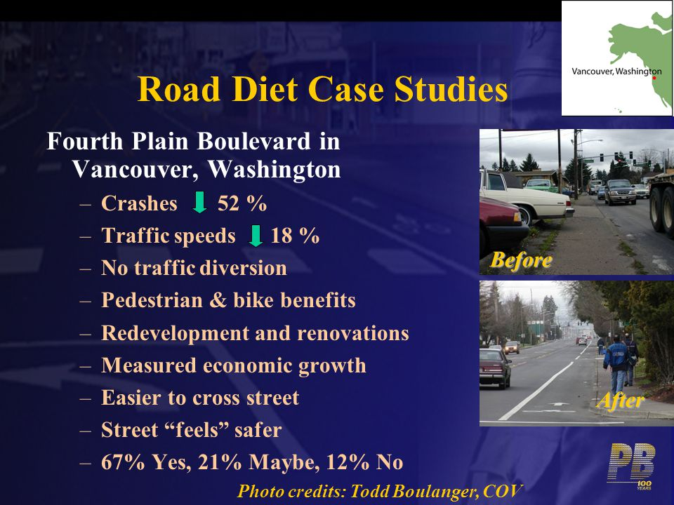 Road Diet Case Studies Fourth Plain Boulevard in Vancouver, Washington