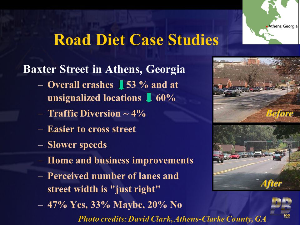 Road Diet Case Studies Baxter Street in Athens, Georgia
