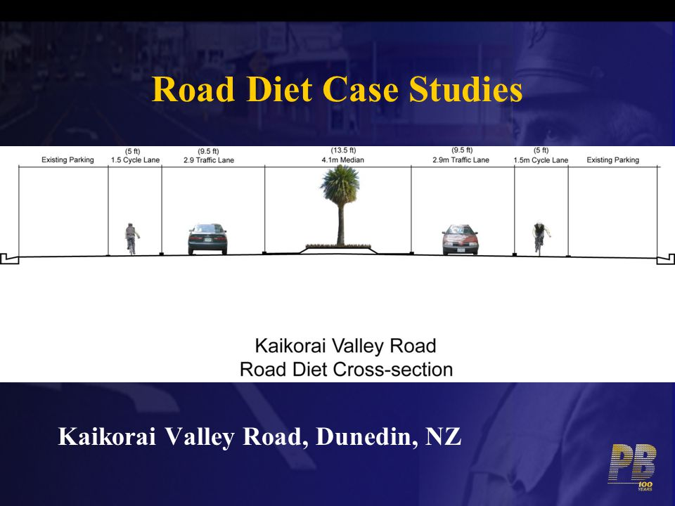 Road Diet Case Studies Kaikorai Valley Road, Dunedin, NZ