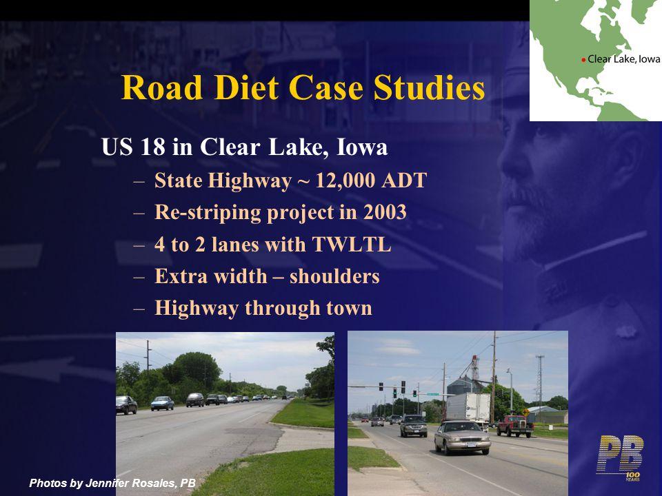 Road Diet Case Studies US 18 in Clear Lake, Iowa