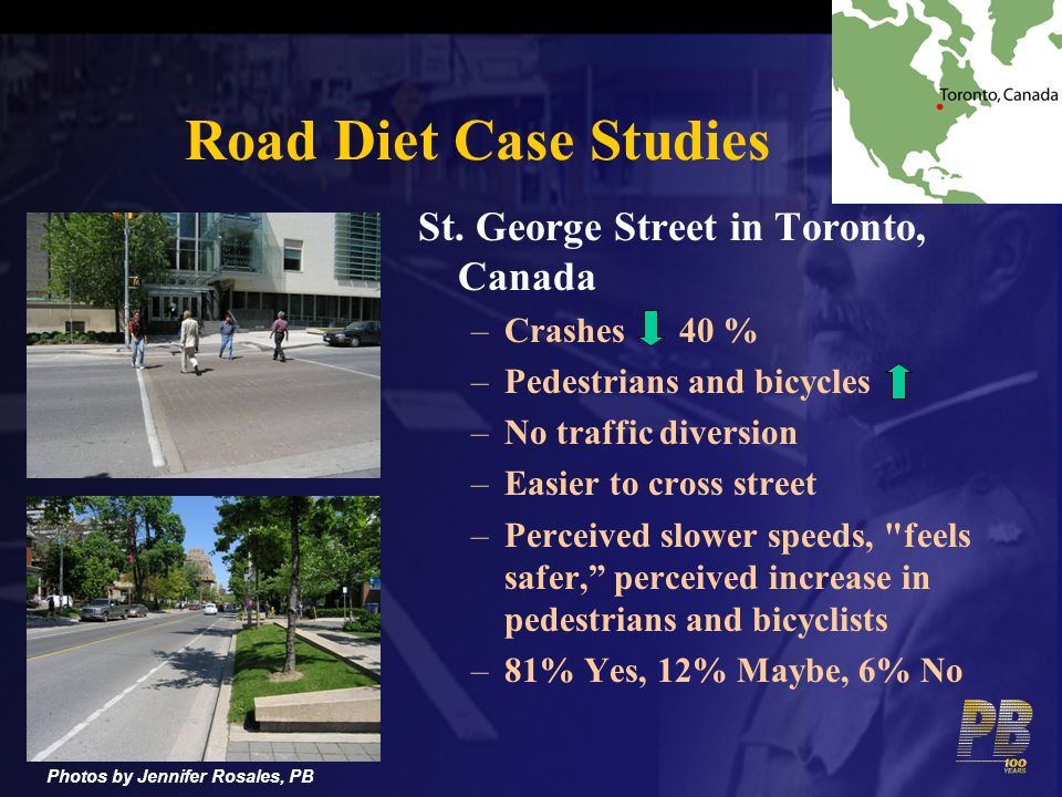 Road Diet Case Studies St. George Street in Toronto, Canada