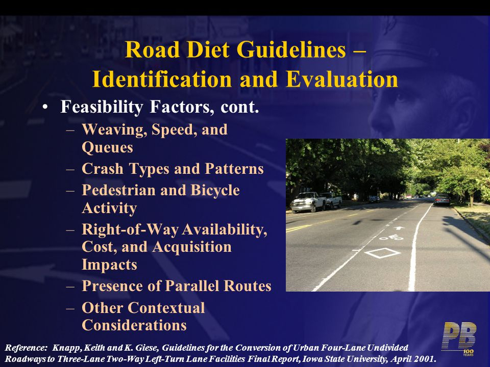 Road Diet Guidelines – Identification and Evaluation