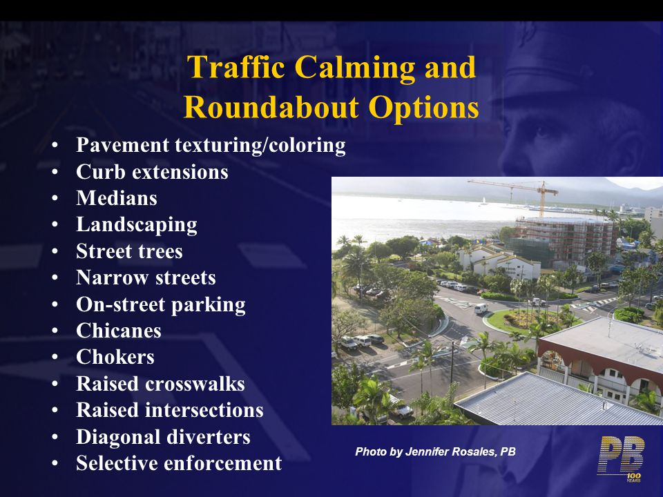 Traffic Calming and Roundabout Options
