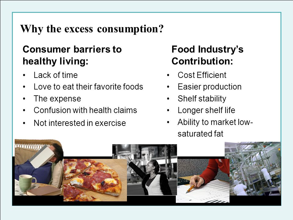 Why the excess consumption