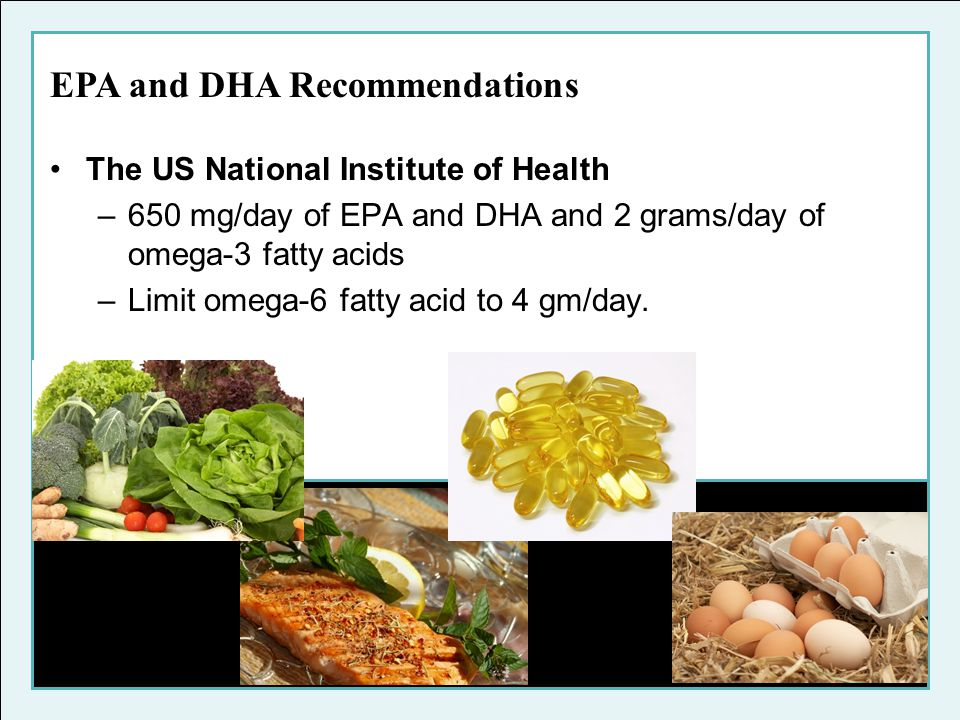 EPA and DHA Recommendations